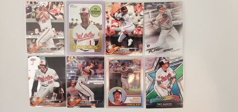 2018 Topps Chrome,Heritage,Purple  Lot of 8 Orioles RC Hays/Sisco