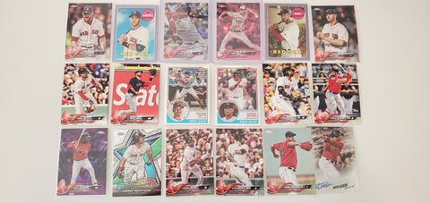 2018 Topps Chrome, Purple, Pink 49 card Lot Red Sox - Devers RC