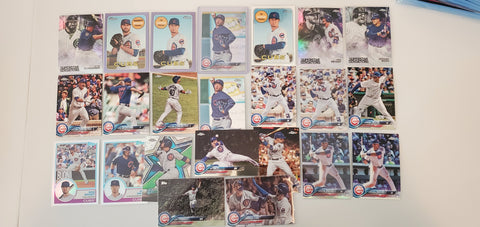 2018 Topps Chrome,Purple,Prism,Heritage, 59 card lot - Cubs