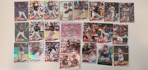 2018 Topps Chrome,Color,Pink,Purple 42 Card lot - Indians