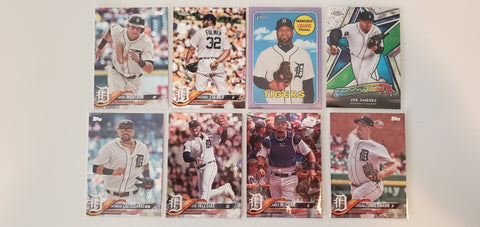 2018 Topps Chrome, Foil, Purple 8 Card Lot -Tigers