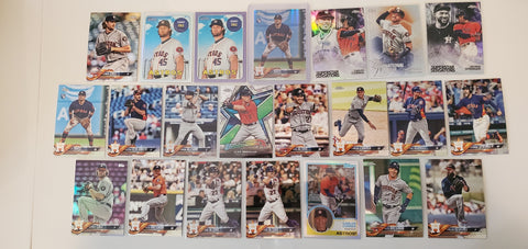 2018 Topps Chrome,Pink,Foil, Team 51 Card Lot  Houston Astros