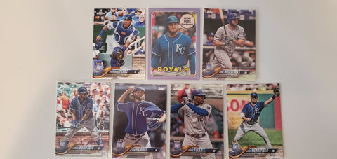 2018 Topps Chrome,Foil, Purple Lot of 7 Cards - Kansas City Royals