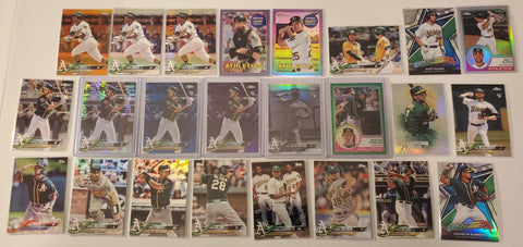 2018 Topps Chrome,Color,B&W,Purple RC's 24 Card Lot-Athletics