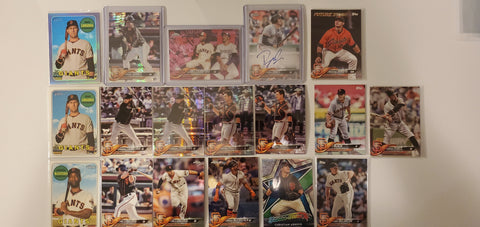 2018 Topps Chrome,Pink,Purple,RC Auto, 38 Card Lot - Giants