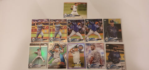2018 Topps Chrome,Purple,Prism 30 Card Lot - Rays