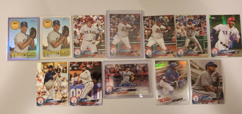 2018 Topps Chrome,Auto RC, Prism, Purple Lof of 32 - Rangers