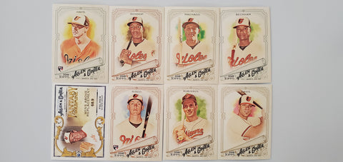 2018 Topps Allen & Ginter Team Lot w/Goldmine - Orioles (8 Cards)