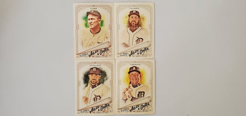 2018 Topps Allen & Ginter Team Set SP's - Tigers (4 Cards) Cobb