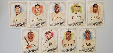 2018 Topps Allen & Ginter Team Set - Pirates (9 Cards) Clemente/Wagner