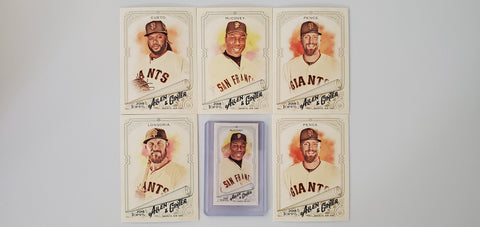 2018 Topps Allen & Ginter Team Lot Minis/SP's - Giants (6 Cards) McCovey