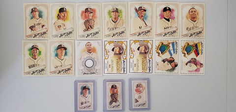 2018 Topps Allen & Ginter Team Lot Minis/SP's - Mariners (17 Cards)