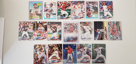 2018 Topps Chrome,Color,Purple,Foil,Auto RC's,Robles 38 Card Lot - Nationals