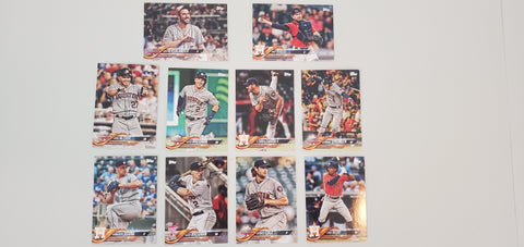 2018 Topps Update Team Set - Houston Astros (10 Cards)