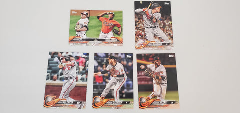 2018 Topps Series Update Team Set - Baltimore Orioles (5 Cards)