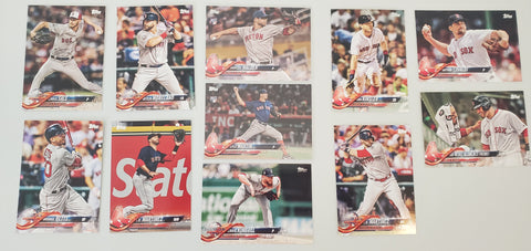 2018 Topps Update Team Set - Boston Red Sox (11 Cards)