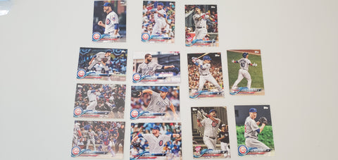 2018 Topps Series Update Team Set - Chicago Cubs (13 Cards)