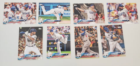 2018 Topps Series Update Team Set - Los Angeles Dodgers (8 Cards)