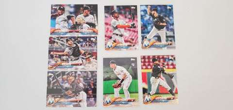 2018 Topps Series Update Team Set - Marlins (7 Cards)