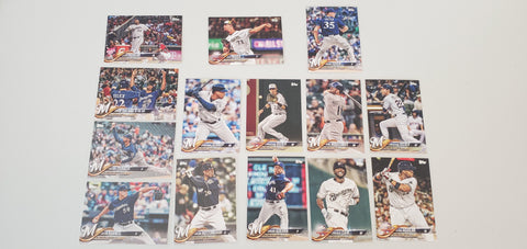 2018 Topps Series Update Team Set - Milwaukee Brewers (14 Cards)