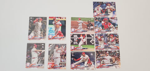 2018 Topps Series Update Team Set - Philadelphia Phillies (11 Cards)