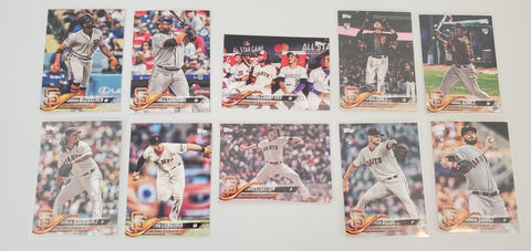 2018 Topps Series Update Team Set - San Francisco Giants (10 Cards)