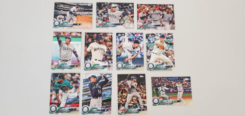 2018 Topps Series Update Team Set - Seattle Mariners (11 Cards)