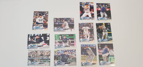 2018 Topps Series Update Team Set - Tampa Bay Rays (12 Cards)