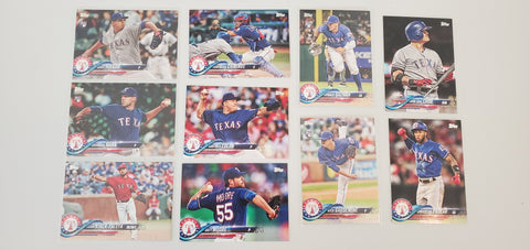 2018 Topps Series Update Team Set - Texas Rangers (10 Cards)