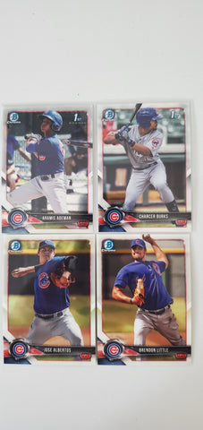 2018 Bowman Chrome Prospects Series 2 Team Set - Chicago Cubs (4 Cards)