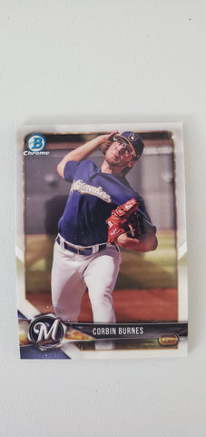 2018 Bowman Chrome Prospects Series 1 Milwaukee Brewers Singles