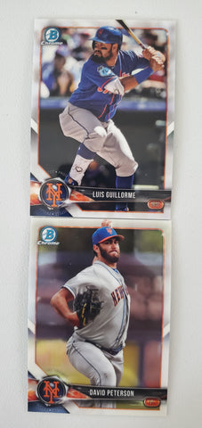 2018 Bowman Chrome Prospects Series 2 Team Set - New York Mets (2 Cards)