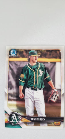 2018 Bowman Chrome Prospects Series 1 Oakland Athletics Singles