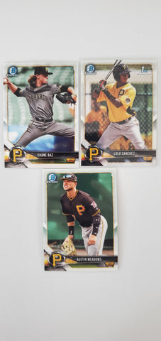 2018 Bowman Chrome Prospects Series 2 Team Set - Pittsburgh Pirates (3 Cards)
