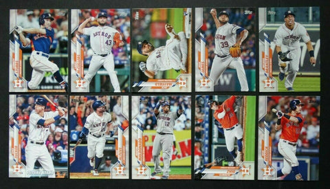 2020 Topps Series 2 Team Set - Houston Astros (10 Cards)