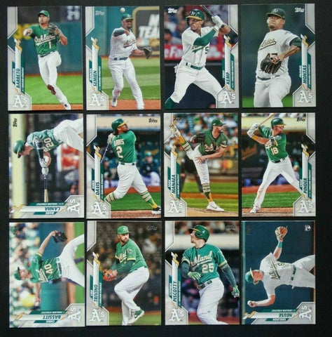 2020 Topps Series 2 Team Set - Oakland A's (12 Cards)