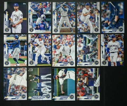 2020 Topps Series 2 Team Set - Milwaukee Brewers (14 Cards)