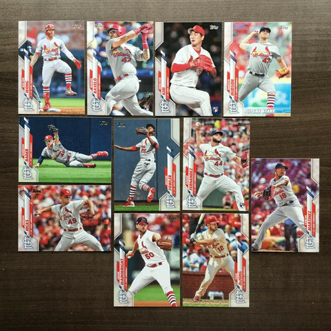 2020 Topps Series 2 Team Set - St. Louis Cardinals (11 Cards)