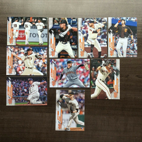 2020 Topps Series 2 Team Set - San Francisco Giants (9 cards)