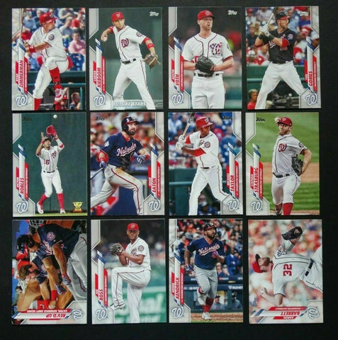 2020 Topps Series 2 Team Set - Washington Nationals (12 Cards)