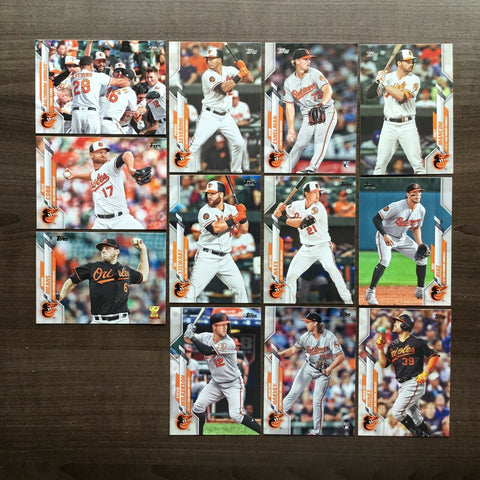 2020 Topps Series 2 Team Set - Baltimore Orioles (12 Cards)