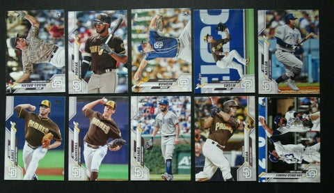 2020 Topps Series 2 Team Set - San Diego Padres (10 Cards)