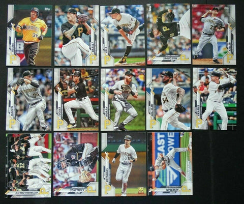 2020 Topps Series 2 Team Set - Pittsburgh Pirates  (14 Cards)