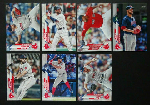 2020 Topps Series 2 Team Set - Boston Red Sox (7 Cards)