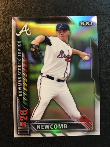 2016 Bowman Chrome Bowman Scouts Top 100 #BTP26 Sean Newcomb