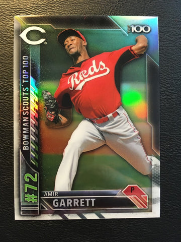 2016 Bowman Chrome Bowman Scouts Top 100 #BTP72 Amir Garrett