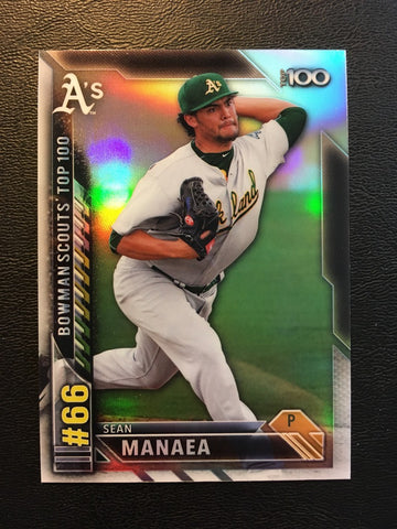 2016 Bowman Chrome Bowman Scouts Top 100 #BTP66 Sean Manaea