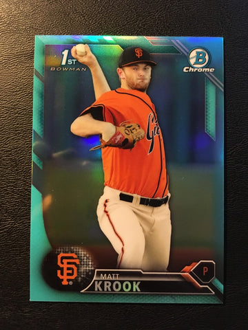 2016 Bowman Chrome Draft Sky Blue Refractors #BDC33 Matt Krook