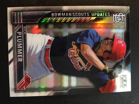 2016 Bowman Chrome Bowman Scouts Updates #BSUNP Nick Plummer