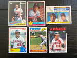 Rod Carew lot of 6 1976, 1977, etc.
